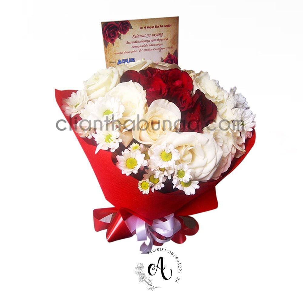 Hand Bouquet Mawar 01 Toko Bunga Di Kayon Surabaya Agustina